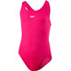 speedo Girls Essential Endurance+ Medalist Swimsuit Electric Pink